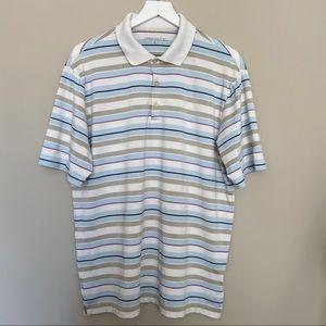 Men's NIKE GOLF Striped Short Sleeved Shirt MED